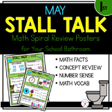 1st Grade Math Spiral Review Posters- May Stall Talk