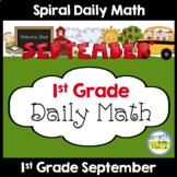 1st Grade Math Spiral Review SEPTEMBER Morning Work or Warm ups