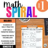 1st Grade Math Spiral Review - Second Semester