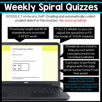 1st Grade Math Spiral Review DIGITAL   Google Classroom   Distance Learning