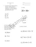 1st Grade Math Spiral Review - Weeks 29-32