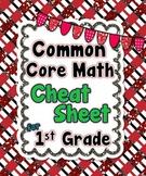 1st Grade Common Core Math Cheat Sheet