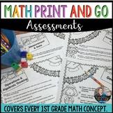 #SPRINGSAVINGS Math Worksheets 1st Grade  | End of Year | Summer Packet