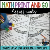 Math Worksheets 1st Grade End of Year Summer Packet |Print