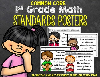 1st Grade Math Standards Posters