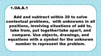 1st Grade Math Standards (TN)