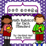 1st Grade - Math Standards with Rubrics