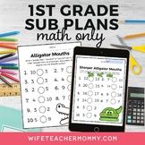 1st Grade Math Sub Plans for Departmentalized Teachers