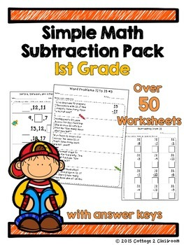 1st Grade Math Subtraction Pack