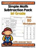 1st Grade Math Subtraction Pack