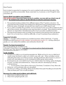 1st G Math Summer Work Resources & Packet