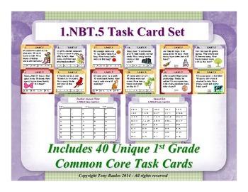 1st Grade Math Task Cards 1 NBT.5 Mentally Find 10 More or Less 1.NBT.5