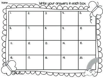 1st Grade Math Task Cards (Spring Themed)