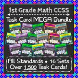 1st Grade Math Task Cards MEGA Bundle {Common-Core Aligned}