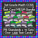 1st Grade Math Task Cards MEGA Bundle {Common-Core Aligned}