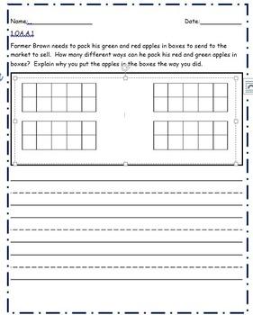 1st Grade Math Tasks Unit 1