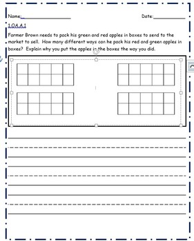 1st Grade Math Tasks Unit 1