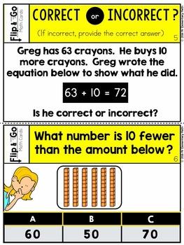 Ten More & Ten Less - 1st Grade Math Flip and Go Cards