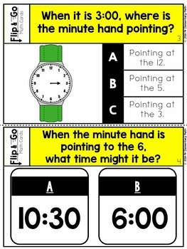 Time - 1st Grade Math Flip and Go Cards
