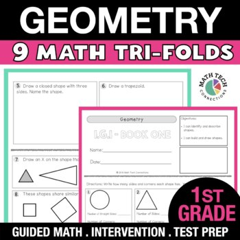 1st Grade Geometry - Identify and Describe Shapes, Create and Partition Shapes