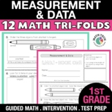 1st Grade Math Tri-Folds - Measuring Length, Time, and Dat