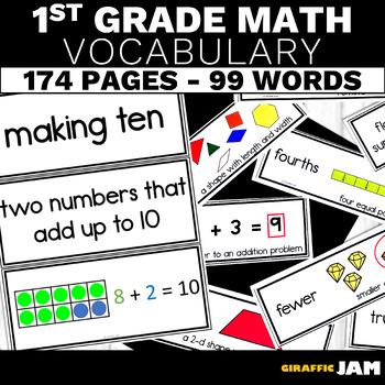 1st Grade Math Vocabulary Bundle!