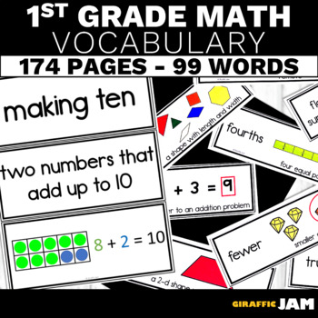 1st Grade Math Vocabulary Bundle