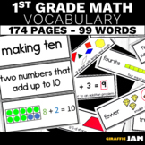 1st Grade Math Vocabulary for Focus Wall and Interactive Notebooks