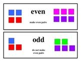 1st Grade Math Vocabulary Cards