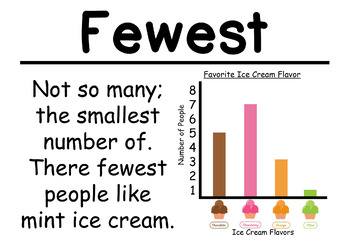 1st Grade Math Vocabulary Cards: Represent Data (Large)