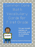 Common Core Math Vocabulary for First Grade