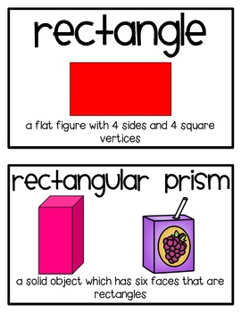 1st Grade Math Vocabulary Posters {Aligned to the Common Core}