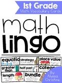 1st Grade Math Vocabulary Word Cards