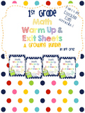 1st Grade Math Warm Up and Exit Slips Growing BUNDLE! Will