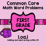 1st Grade Math Word Problems Common Core 1oa1 1.oa.1