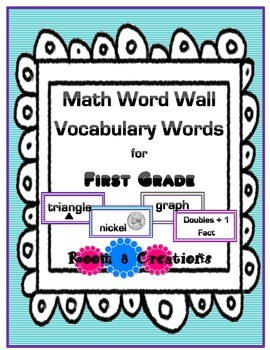 1st Grade Math Word Wall Cards