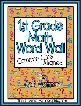 1st Grade Math Word Wall:  Common Core Aligned