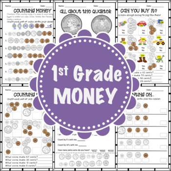 1st Grade - Money - Worksheet