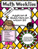 1st Grade Math Worksheets on Addition and Subtraction within 20