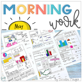1st Grade Math and Literacy Common Core Morning Work 10th Month of School