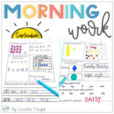 1st Grade Math and Literacy Common Core Morning Work Septe