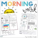 1st Grade Math & Literacy Common Core Morning Work 7th Mon