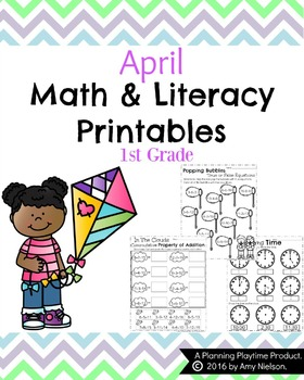 1st Grade Math and Literacy Printables - April