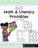 1st Grade Math and Literacy Printables - April