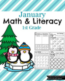 1st Grade Math and Literacy Printables - January