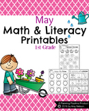 1st Grade Math and Literacy Printables - May