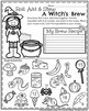 1st Grade Math and Literacy Printables - October