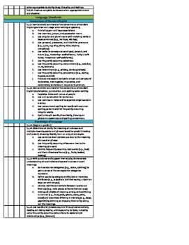 1st Grade Math and Reading Common Core Checklist - Quarters Bundle