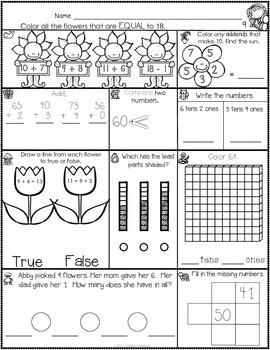 1st Grade May Math Journal
