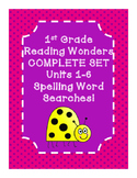 1st Grade McGraw Hill Reading Wonders UNITS 1-6 Spelling W
